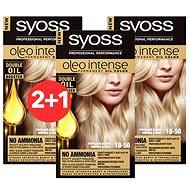 SYOSS Oleo Intense 10-50 Světlá popelavá blond 3× 50 ml - Farba na vlasy