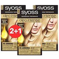 SYOSS Oleo Intense 9-10 Zářivě plavý 3× 50 ml - Farba na vlasy