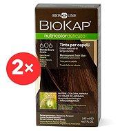 BIOKAP Nutricolor Delicato Dark Blond Havana Gentle Dye 6.06 (2× 140 ml)