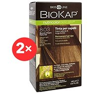 BIOKAP Nutricolor Extra Delicato + Natural Light Blond Gentle Dye 8.03 (2× 140 ml)