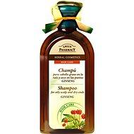 GREEN PHARMACY Šampón pre mastiace sa suché vlasy Ženšen 350 ml - Šampón