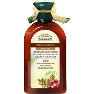 GREEN PHARMACY Balzam pre suché a poškodené vlasy Arganový olej a Granátové jablko 300 ml - Balzam