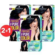 SCHWARZKOPF PURE COLOR 1.40 Čučoriedkovo čierna 3× 60 ml - Farba na vlasy