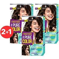 SCHWARZKOPF PURE COLOR 6.0 Pražené kakao 3× 60 ml - Farba na vlasy