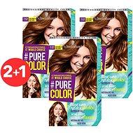 SCHWARZKOPF PURE COLOR 7.57 Sladko karamelová 3× 60 ml - Farba na vlasy