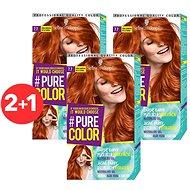 SCHWARZKOPF PURE COLOR 7.7 Žiarivá škořicová 3× 60 ml - Farba na vlasy