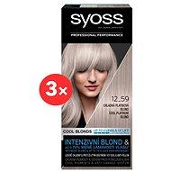 SYOSS Blond Cool Blonds 12-59 Chladná platinová blond 3× 50 ml - Farba na vlasy