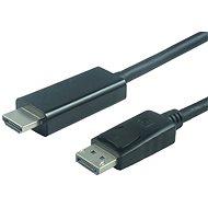PremiumCord DisplayPort - HDMI prepojovací 3 m čierny - Video kábel