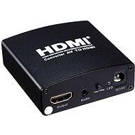 PremiumCord prevodník AV signálu a zvuku na HDMI - Redukcia