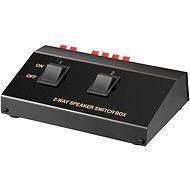 OEM Přepínač reproduktorů 2:1, stereo, manuální