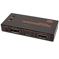 OEM Prepínač HDMI/miniDP/DP -> HDMI, 3:1 - Prepínač