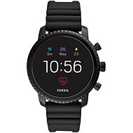 Fossil Explorist HR Black Silicone - Smart hodinky