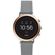 Fossil Venture HR Gray Silicone - Smart hodinky