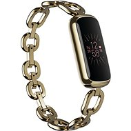 Fitbit Luxe Special Edition Gorjana Jewellery Band – Soft Gold/Peony - Fitness náramok