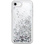 White Diamonds Sparkle Case pre Apple iPhone 8/7/6/6S – strieborné hviezdy