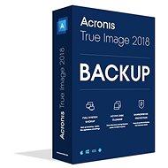 Acronis True Image 2018 CZ pre 1 PC - Zálohovací softvér