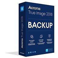 Acronis True Image 2018 CZ pre 1 PC (elektronická licencia) - Zálohovací softvér