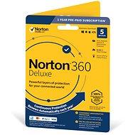 Symantec Norton 360 Deluxe 50 GB CZ, 1 používateľ, 5 zariadení, 12 mesiacov (elektronická licencia)