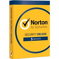 Symantec Norton Security Deluxe 3.0 CZ, 1 používateľ, 5 zariadení, 12 mesiacov (elektronická licencia) - Elektronická licencia