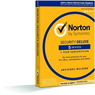 Symantec Norton Security Deluxe, 1 používateľ, 5 zar, 12 mes, 3 LICENCIE ZA CENU 2 (elektronická licencia) - Elektronická licencia