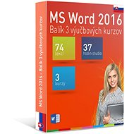 GOPAS MS Word 2016 – 3 samoštudijné výukové kurzy na 365 dní SK (elektronická licencia) - Elektronická licencia