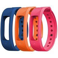 EVOLVEO FitBand B2 náramok modrý + oranžový + ružový - Remienok