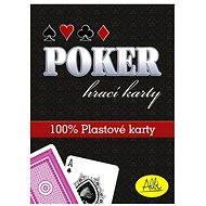 Poker – plastové karty, červené - Kartová hra