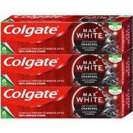 COLGATE Max White Charcoal 3× 75 ml - Zubná pasta