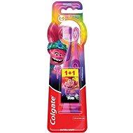 COLGATE Trolls + minions pre deti vo veku 2 – 6 rokov 1 + 1 - Detská zubná kefka