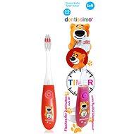 DENTISSIMO Kids Timer, červená - Detská zubná kefka
