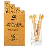 PANDOO Bambus Medium Soft detská 4 ks - Detská zubná kefka
