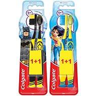 (Nosná položka) COLGATE Batman Wonder Women 6+ rokov Duopack - Detská zubná kefka