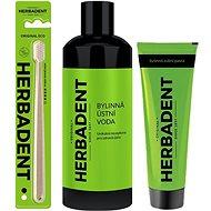 HERBADENT zubní pasta + zubní kartáček + ústní voda