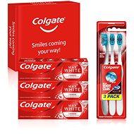 COLGATE Box Max White Luminous 3× 75ml + 3× Colgate 360 - Sada ústnej hygieny
