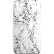 AlzaGuard iPhone 7/8/SE 2020 Biely Mramor - Kryt na mobil