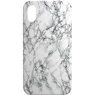 AlzaGuard – Apple iPhone X/XS – Biely Mramor - Kryt na mobil
