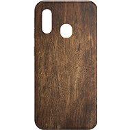 AlzaGuard – Samsung Galaxy A20e – Tmavé drevo - Kryt na mobil