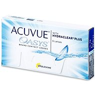 Acuvue Oasys with Hydraclear Plus (6 šošoviek) dioptrie: -3,00, zakrivenie: 8,40 - Kontaktné šošovky