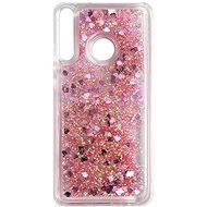 Kryt na mobil iWill Glitter Liquid Heart Case pre Huawei P40 Lite E Pink - Kryt na mobil