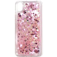 iWill Glitter Liquid Heart Case pre HUAWEI Y5 (2019)/Honor 8S Pink - Kryt na mobil