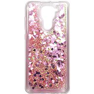 Kryt na mobil iWill Glitter Liquid Heart Case pre Xiaomi Redmi Note 9 Pink - Kryt na mobil