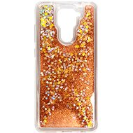 Kryt na mobil iWill Glitter Liquid Star Case pre Xiaomi Redmi Note 9 Rose Gold - Kryt na mobil