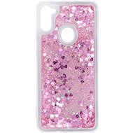 Kryt na mobil iWill Glitter Liquid Heart Case pre Samsung Galaxy M11 - Kryt na mobil