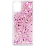 Kryt na mobil iWill Glitter Liquid Heart Case pre Samsung Galaxy M31s - Kryt na mobil