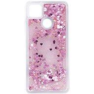 Kryt na mobil iWill Glitter Liquid Heart Case pre Xiaomi Redmi 9C - Kryt na mobil