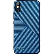 MoFi Anti-slip Back Case Strip iPhone XS Modrý - Kryt na mobil