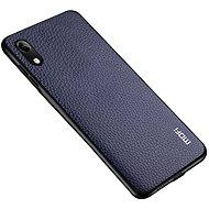 MoFi Litchi PU Leather Case Samsung Galaxy A10 Modrý - Kryt na mobil