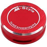 M-Style víčko nádobky brzdové kapaliny - červené - Viečko nádobky brzdovej kvapaliny