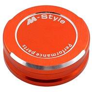 M-Style víčko nádobky brzdové kapaliny - oranžové - Viečko nádobky brzdovej kvapaliny