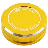 M-Style víčko nádobky brzdové kapaliny - zlaté - Viečko nádobky brzdovej kvapaliny